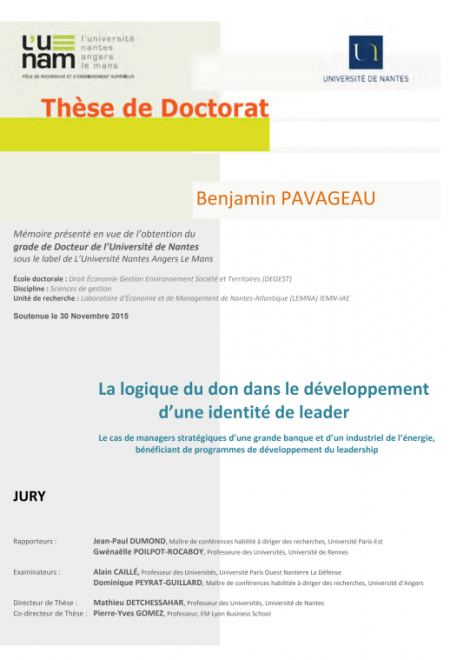 Thèse de doctorat - Benjamin Pavageau
