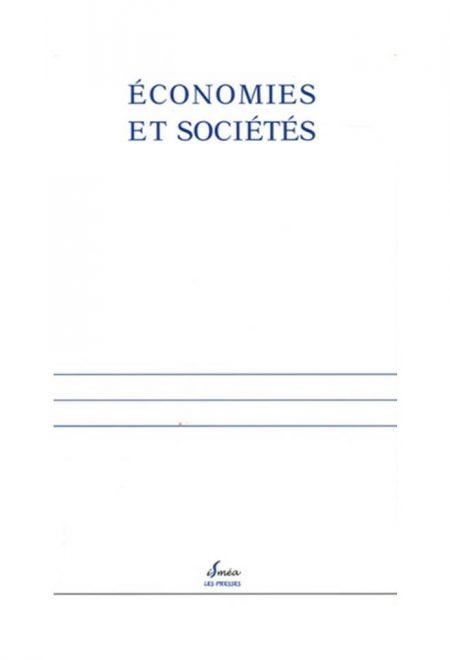 Revues économies et sociétés